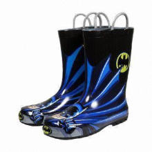 Men's Rain Boots, Made of High Elastic PVC