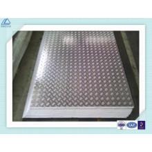 Bright Aluminum Checkered Plate