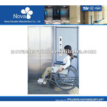 Hairline stainless steel elevator for hospital, high speed