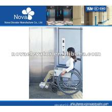 Elevador de aço inoxidável para hospital, alta velocidade