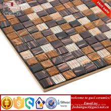 barato mosaico de azulejos de color marrón mezclado caliente - mosaico de mosaico de la piscina del derretimiento