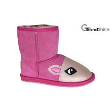 Kid's Cow Suede Niedrige Stiefel Lovely Horse