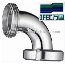 Coude sanitaire à 90 degrés avec union (IFEC-SE100001)
