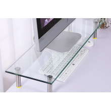 Computer Table Glass Computer Desk Monitor Stand