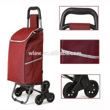 six wheels foldable shopping trolley bag