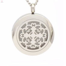 Fashion hollow filigree lockets jewelry with magnetic switch