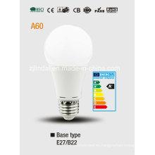 A60 Bombilla LED de luz