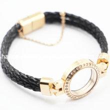 Manufacturer Wholesaler Locket Magnetic Leather Bracelet Jewelry