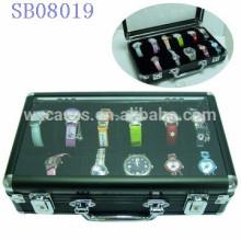 cajas de reloj de lujo aluminio 12, caja para los hombres con un claro Mostrar top ventas por mayor, con opción de diferentes colores