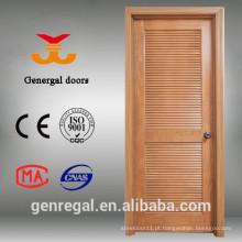 Portas interiores de madeira maciça com persianas
