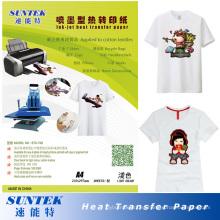 Papel de prensa de calor de color claro adecuado para impresora Ink-Jet
