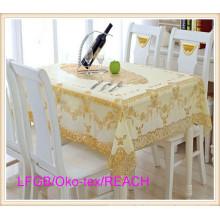 Goldene PVC Spitze Tischdecke