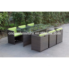 Viro rattan space saving cube dinning set