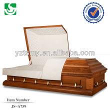 tamanho grandes caixões de madeira sólidas