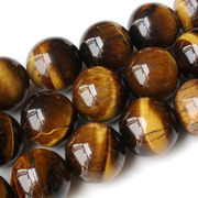 4-18mm Tiger-eye Semi-precious Loose Beads Gemstone, Round Polished