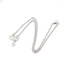 Échantillon gratuit chaînes en argent collier en vrac, chaîne de collier en acier inoxydable de cadeau sunisex