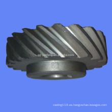 Engranaje espiral personalizado pequeño engranaje espiral plástico