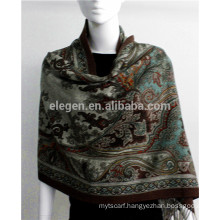 Cashmere Double sided printed pattern China factory long scarf