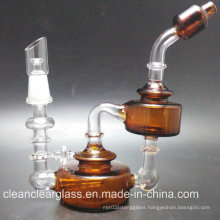 High Quality Hot Sale Glass Oil Rig Outside Recycler with 10mm Joint