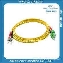 ST / PC-SC / PC одномодовый дуплексный оптоволоконный патчкорд (настраиваемая длина)