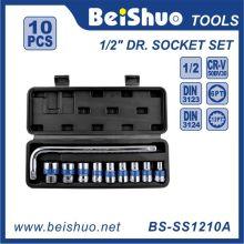 10 PCS 1 / 2''dr. L-Typ Schraubenschlüssel Sockel mit Kunststoffbox