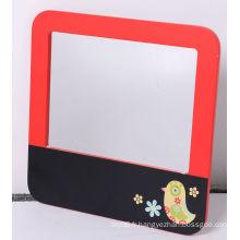 Tableau de message en bois avec miroir pour décoration pour enfants
