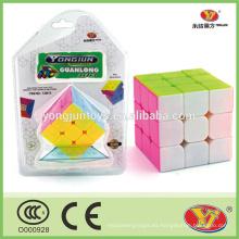 Material plástico y PVC Tipo de plástico 3d rompecabezas de juguete YJ Guanlong regalos promocionales cubo