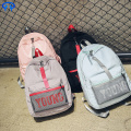Practical zipper canvas lady backpack