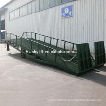 Hydraulique iso CE approuvé chariot élévateur chargement entrepôt mobile rampe / 6tons camion