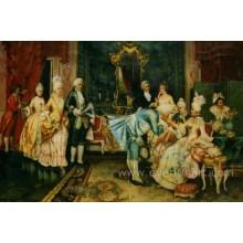 Figura pintura clássica na lona
