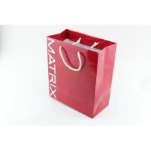 Impression de sac de papier de cadeau fait sur commande de quatre couleurs de sacs à main de fantaisie