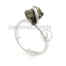 Anillo de plata hecho a mano del diseñador de la piedra preciosa de la pirita para la venta al por mayor