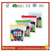 School Mini Highligter Marker in PVC Pocket