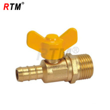 male thread butterfly brass gas valve