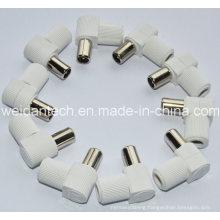 White Right Angle 9.5 PAL Plug
