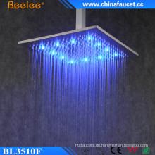Badezimmer-Quadrat-Messing-Wasserfall-Niederschlag-Mischungs-LED Duschekopf