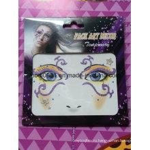 Самоклеющиеся Блеск Лица Наклейки Съемный Глаз Флэш-Декоративные