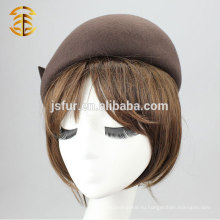 Горячее верхнее качество Элегантные женские 100% шерстяные шляпы Fedora