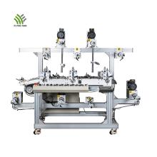Трехместная многослойная машина для ламинирования пленки ПВХ