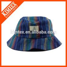 Kundenspezifischer Baumwoll-preiswerter kühler Eimer-Hut mit gedrucktem / Stickerei-Firmenzeichen