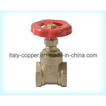 Valve de serrage en laiton certifiée CE avec roue de poignée en fer (AV4032)