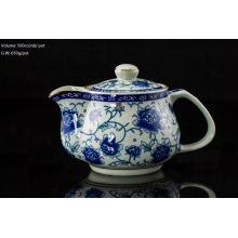 500cc pot Rose ceramic teapot with stainless insert