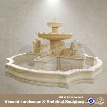Grande fontaine en pierre blanche en marbre animal VLF-N032R