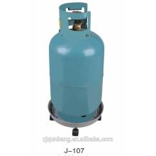 Estante de garrafas de gás cromado em metal
