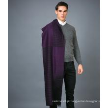 Cachecol de lã 100% masculino em lenço cor de jacanga de cor sólida