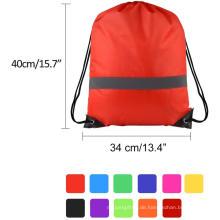 Rucksack-Tasche mit Kordelzug und reflektierendem Klebeband