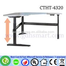 CTHT-4320 GROSSHANDEL Drei Beine elektrische höhenverstellbare Ecktisch mit 4 Memory-Höhe heben klickt Laptop-Schreibtisch