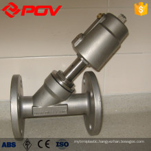 Flanged steam valve y type pneumatic control valve