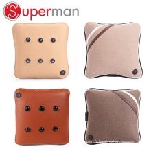 Coussin de massage de siège de voiture de voyage assis oreiller sans fil de vibrateur de dos