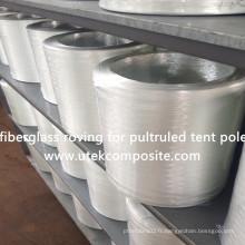 Bonne flexibilité 4800tex fibre de verre Roving Fiberglass pour Tent Pole